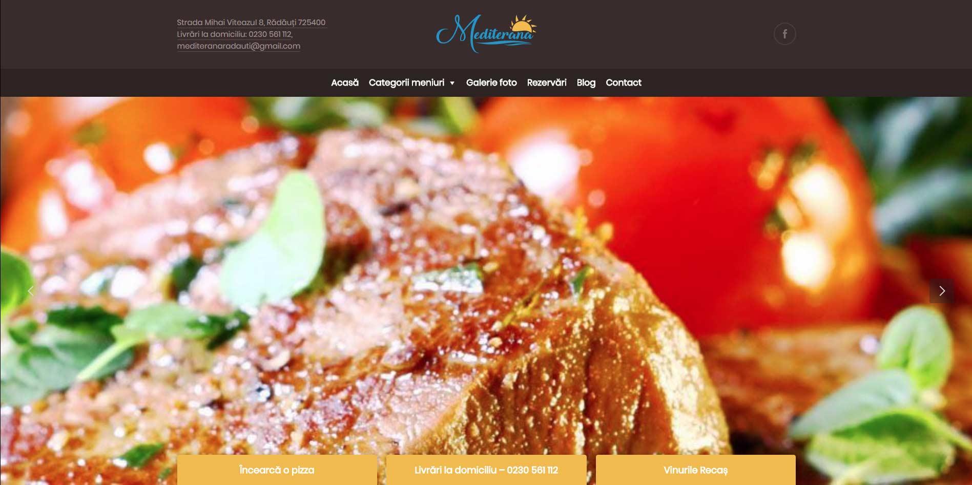 Site Restaurant Mediterana Radauti